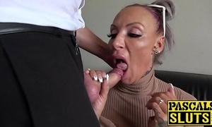 Busty milf succubus analled roughly before wear and tear cum