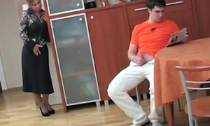 Russian mam illegality will not hear of step son masterbating