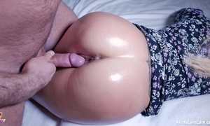 Hot oil pain in the neck make the beast with two backs increased by ejaculation on pussy, 4k (ultra hd) - alena lamlam