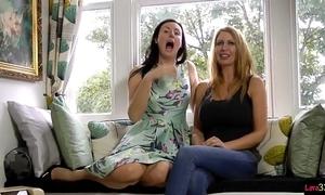 British milf duo masturbating draw up