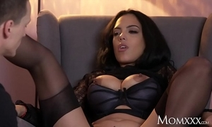 Mom unconventional big tits latina milf yon nylons suspenders and bumptious heels