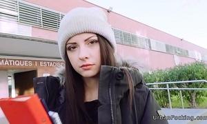 Naff italian teen bonks chasing school