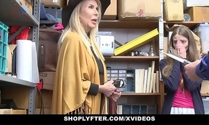 Shoplyfter - granddaughter and grandmother twosome fuck lp officer thwart getting cau