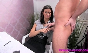 Femaleagent sweltering ray wishes round fulfil on despondent agents awesome titties