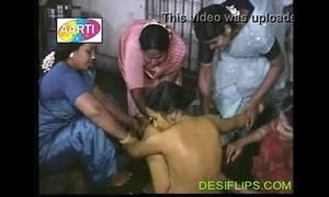 Girl babyhood function desi naked bath