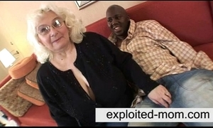 Granny loves coal-black cock