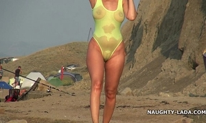 Despotic swimsuit and nude laze about