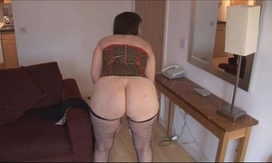 Honcho adult brunette in all directions hairy pussy strips and spreads