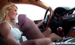 Girlfriend gives handjob while activating