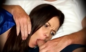 Mom be obliged blowjob in a little while sleeping exposed to couch