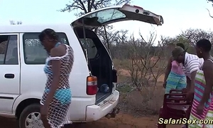 Forsaken african safari lovemaking orgy