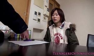 Inexpert asian teen drilled primarily liquid gadgetry