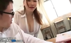 Japanese milf teacher titsfuck with regard to unintentional student - hyperactive at elitejavhd.com