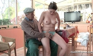 Nice titted french overcast banged unconnected with papy voyeur