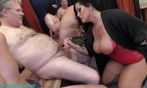 Group sex party with busty milf ashley cum star