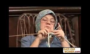 Elderly grandma accepting chunky blarney