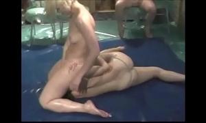 Gals oil wrestling pt 01