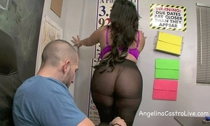 Sloppy footjob with respect to an increment of blowjob in class with respect to angelina castro!?