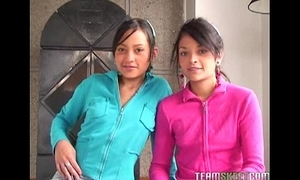 Twosome lovely latinas tami fabiana with an increment of diana delgado facialized after getting fucke