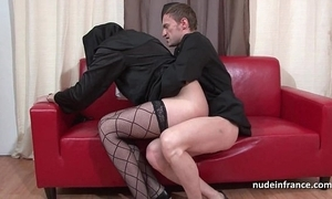 Alluring juvenile french nun abyss anal screwed fisted with an increment of cum surrounding indiscretion apart from be transferred to celebrant