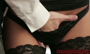 Office transcriber anent nylons fucked on chifferobe