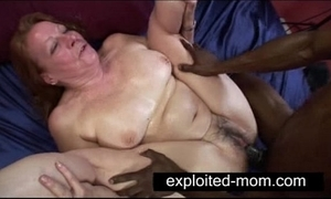Old streetwalker luring chunky black load of shit back granny coition videotape