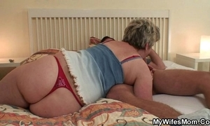 Piping hot granny seduces him local fit together finds out!