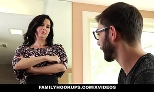 Familyhookups - hot milf teaches stepson how encircling fuck