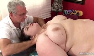 Hot fatty sapphire rose receives a sex massage