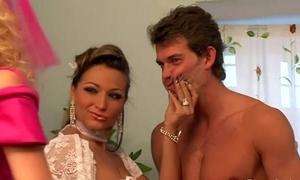 Femdom bridal gang sissify