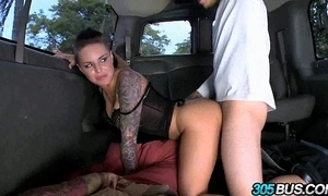 Christy mack fucks a strengthen be proper of males on the 305bus 3.2