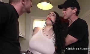 Huge bosom alt slave gets anal drilled