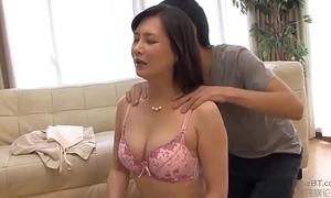 Japanese mammy increased by son do yoga yoga exercises