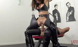 Original squirting and pissing in latex