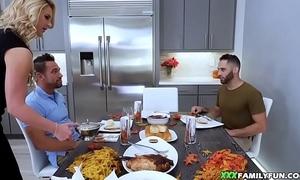 Stepmom fucked not later than thanksgiving dinner