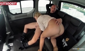 Inexperienced gut porn flick in a taxi cab - angela christin