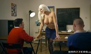 Bosomed teacher veld stocking seduced four anorectic boyz