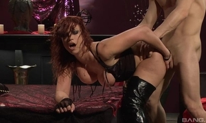 Passionate redhead slut in the matter of high Ganymede gets drilled hard