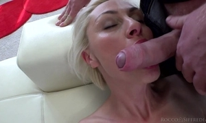 Hungarian blondie with natural boobs takes superior to before huge Italian cock