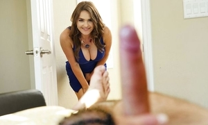 Insatiable MILF far fat boobs joins stepdaughter added to their way defy